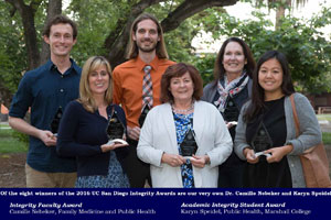 2016 UC San Diego Academic Integrity Awards